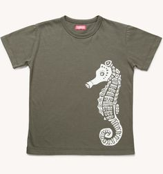 Boys Seahorse Cotton T-Shirt