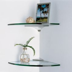 Glass Corner Shelves - This Elegant Glass Corner Shelves Ideas wallpapers was upload on January, 1 2020 by Elmer Emmerich. Here latest Glass Corner Shelves Glass Corner Shelves, Glass Shelf Brackets, Glass Shelves Kitchen, Wall Mounted Shelves, Display Shelves, Floating Shelves, Shelving, Corner Shelf, Mirror Shelves