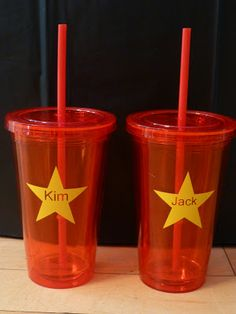 Star cups! Love these for party favors. Need vinyl stars for the decals.