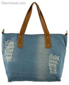 Denim handbags-tote bag
