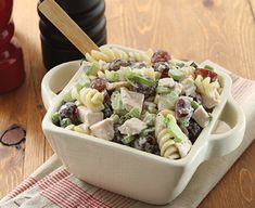 Tarragon Turkey, Grape and Pasta Salad