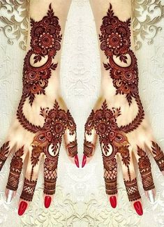 We have got a list of top Mehndi designs for Hand. You can choose Mehndi Design for Hand from the list for your special occasion. Henna Hand Designs, Mehandi Designs, Khafif Mehndi Design, Mehndi Designs For Girls, Stylish Mehndi Designs, Bridal Henna Designs, Beautiful Mehndi Design, Arabic Mehndi Designs, Latest Mehndi Designs
