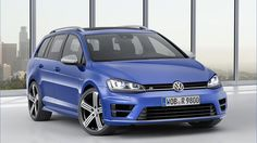 Volkswagen presented the Golf R Variant which will debut in the Los Angeles auto show. The Variant version of the Golf R is practically the same as the standard, hatchback version, regarding the engine. Volkswagen Golf Variant, Volkswagen Golf R, Vw Golf Variant, Volkswagen Models, Volkswagen Beetles, Vw Golf R, Wagon Cars, Vw Wagon, Horses