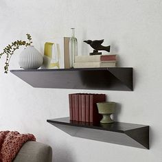 Wedge Shelf - Chocolate #westelm For bigger items