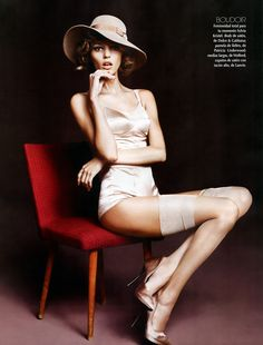 Vogue Mexico/Latin America October 2010 by Anja Rubik  Photos by Marcin Tyszka  Love the post hat and chair