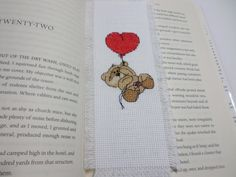 Cross Stitch Up Up and Away Bookmark