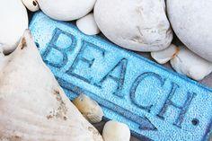 Beach Decor cast iron sign Beach Ocean blue Nautical by SEASTYLE