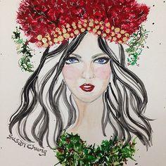 Merry Christmas!! Illustration by Susan Chung https://www.facebook.com/…/Susan-Chung-Ill…/331104350407447…  @susanchungfashion