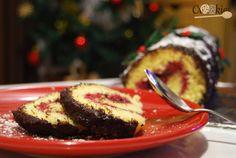 """La buche de Noël façon """"génoise roulée"""". La recette est à consulter ici : http://crookies.fr/la-buche-de-noel-ultrasimple/"""