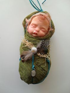 OOAK Nature Fairy Baby by Etsy seller Rosannasart
