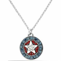 Americana Star Necklace from Brighton.great for any Patriotic holiday! Star Necklace, Pendant Necklace, Brighton, Passion, Charmed, America, God, Stars, Bracelets