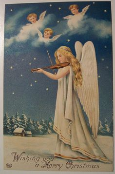 Vintage Angelic Christmas Card