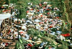 "Jim Jones and Jonestown. 916 people in a cult drank poison and died together. this event is where the famous line ""dont drink the kool aid"" comes from"