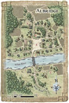 The village of Albridge in Harkenwold