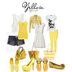 Yellow, created by happycamperaz on Polyvore