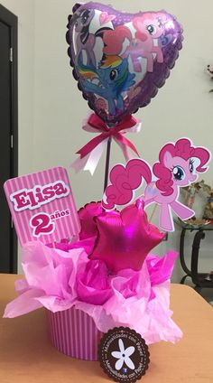Centro de mesa My little pony para una linda nena de 2 añitos