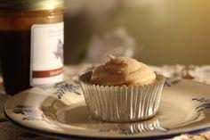 Whiskey Cream Filled Cajeta Cupcakes | saraheatsaustin