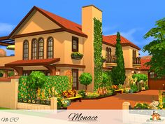 Monaco is a family home built on a 40 x 30 lot in Oasis Springs. Found in TSR Category 'Sims 4 Residential Lots'