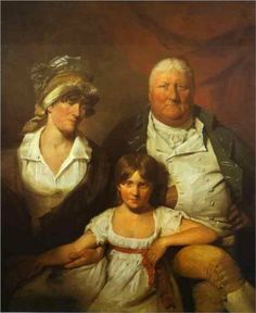 William Chalmers Bethune, his wife Isabella Morison and their Daughter Isabella - David Wilkie.  1804