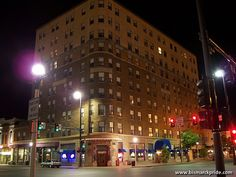 Historic Patterson Hotel Building At Night - Bismarck, North Dakota ...