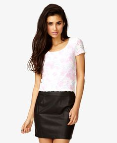 Floral Lace Watercolor Top $15.80 (Forever 21)