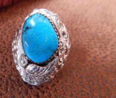 Navajo Native American jewelry size 11 turquoise ring sterling southwest jewelry estate jewelry  sterling silver Texas by LittleCherokeeValley on Etsy
