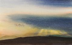 Sky above the Berwyn, an original watercolour painting by Rob Piercy