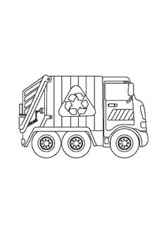 Garbage Truck Coloring Page printable