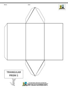 3 d shapes cuboid net 2 tabs math pinterest 3d shapes 3d