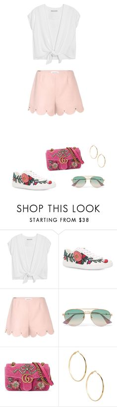 """""""Summer vibe"""" by tammyalves ❤ liked on Polyvore featuring Alice + Olivia, Gucci, Valentino and GUESS by Marciano"""