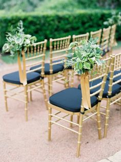 [tps_header]There are so many blue color palettes and Navy and gold is an ideal wedding palette because it's suitable for almost any season and theme. These col Navy Blue And Gold Wedding, Gold Wedding Colors, Navy Gold, The Contemporary Austin, Blue Wedding Decorations, Decor Wedding, Wedding Centerpieces, Garden Party Wedding, Wedding Chairs