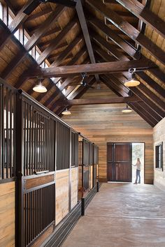 Land+Shelter Architects - Triple M Barn: Three horse stalls with an attached garage, office, and tack room. This project is located in the Roaring Fork Valley just outside of Aspen, CO. Land+Shelter: www.landandshelter.com | info@landandshelter.com Image: © Brent Moss Photography