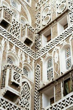 Yemen. Pure Moorish influence is revealed in the architecture.