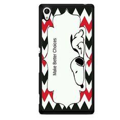 Snoopy Make Better Choice TATUM-9769 Sony Phonecase Cover For Xperia Z1, Xperia Z2, Xperia Z3, Xperia Z4, Xperia Z5
