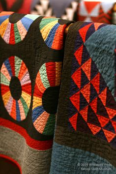Amish Quilts at the Kalona Quilt and Textile Museum in Kalona, Iowa.