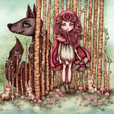 Wow- my 'Snaptwig and Red Cap' print is almost all sold out! I only have a handful of these guys left in the whole world now! If you'd love one before they're all gone, (never to be reprinted), treat 'yo selves in my Etsy - there's a link in my profile 🎀🔪❤🍰 #redridinghood #proudlyhandmade #limitededition #gicleeprints #bigeyes #fairytale #girl #wolf #melmacklin #ifyougointothewoodstoday #etsy #treatyoself #illustration #digitalpainting #lowbrow #madewithlove