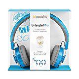 cool LilGadgets Untangled Pro Premium Children's Wireless Bluetooth Headphones with SharePort - Blue