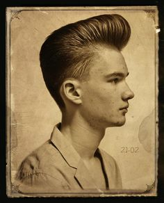 Awesome Pompadour...making its way back into popular demand!