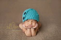 Knit baby hat knitted hat baby boy hat by Knitzbybeansknots, $29.00