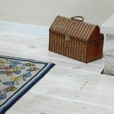 wood floor, painted white, farmhouse decor,