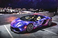 Lamborghini Aventador, the Milky Way painting the body