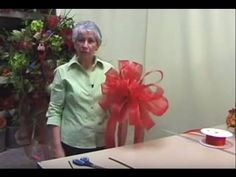 How to Make a Christmas Tree Bow Topper- Nancy Alexander edition) - YouTub. How to Make a Ch Xmas Tree Toppers, Diy Christmas Tree Topper, Diy Tree Topper, Ribbon On Christmas Tree, Christmas Bows, White Christmas, Christmas Time, Christmas Movies, Christmas Lights