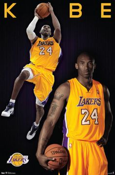 Kobe Bryant - Los Angeles Lakers. Poster from AllPosters.com, $9.99