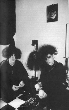 Original Goths † #goth #gothic #gothicsubculture #bighair #androgyny…