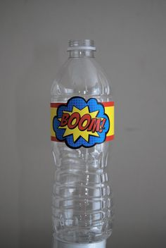 25 PRINTED Girl or Boy Superhero Water Bottle Labels on Etsy, $23.00