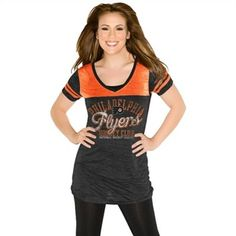 Touch by Alyssa Milano Philadelphia Flyers Women's The Coop V-Neck T-Shirt