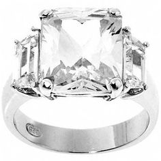 Kim Kardashian Inspired Engagement Ring Fantasy Jewelry Box. $59.95. Prong Setting. High Quality Cubic Zirconia Stones. .925 Sterling Silver. Radiant Cut Stones, Baguette Cut Stones. Rhodium Electroplate Finish