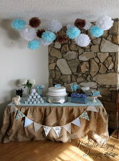 The baby shower decor for my sister's baby shower!