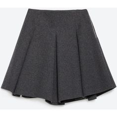 Zara Mini Skirt With Flounce ($70) ❤ liked on Polyvore featuring skirts, mini skirts, bottoms, zara, grey marl, frill skirt, grey skirt, gray skirt, frilly skirt and short skirts