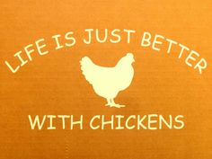 Life is Just Better with CHICKENS Fresh Eggs Daily Chicken Hen White Vinyl Car Window Bumper Sticker Decal.